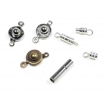 Vintageparts DIY Schmuck Verschl/üsse f/ür Kugelkette in Gunmetal 2 mm 40er Set