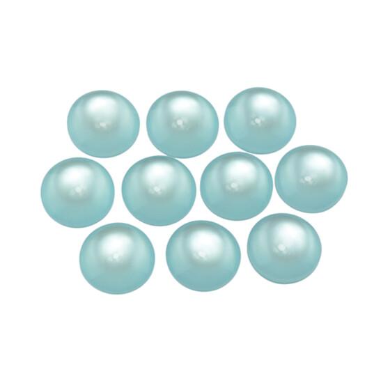 10 mm 10 Resincabochons im Cateye-Design in grün