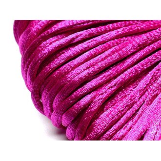 Kunstseidenband in magenta 2mm 20m