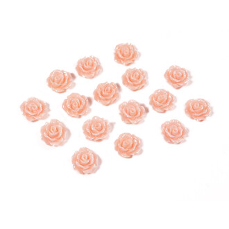 Cabochons als Rose in peach puff 10 mm, 10 Stk.