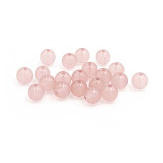 8 mm 20 Glasperlen in Jadeoptik  in rosa