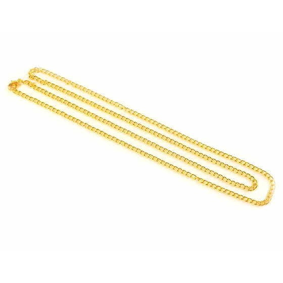 1 m Doppelgliederkette in goldfarben