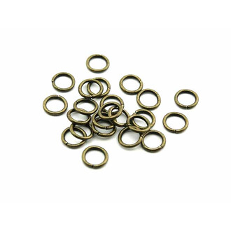 50 Biegeringe in antik Bronze, 8 mm