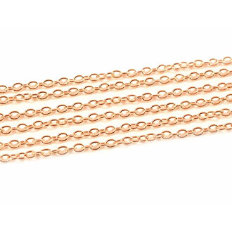 Gliederkette 3 x 4 mm in lightgoldfarben 10 m