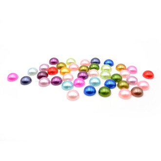 40 Cabochons in Perlenimitat, 10 mm