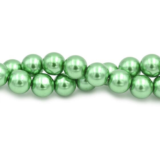 runde Glasperlen mit Facettenschliff in grün 12 mm 10 Stück DIY Vintageparts