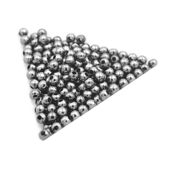 schlichte Collierschlaufen in gunmetal 10 Stück von Vintageparts DIY-Schmuck