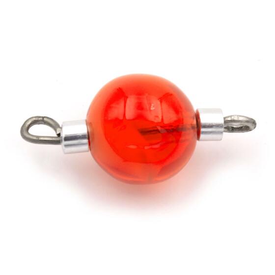 ovale rote Glasperlen mit Ösenstift als Verbinder im 4er Set von Vintageparts