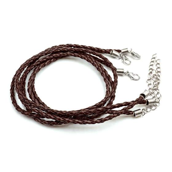 1 m Kunstlederband geflochten rose metallic 6 x 2 mm armband herstellen