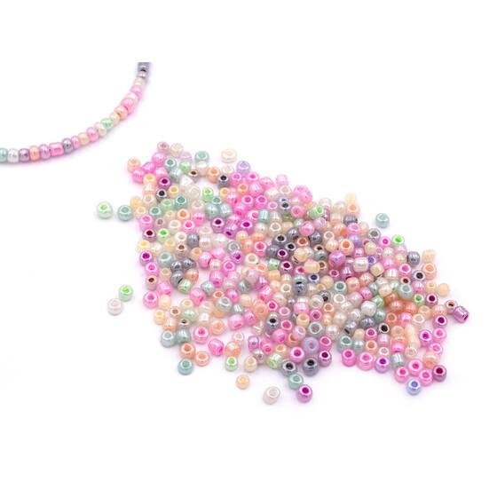 50g Rocailles Seed beads kleine Perlen Lila 2-3 mm