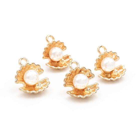 ECHT GOLD *** Perle rosa Anhänger Kettenanhänger 17 mm