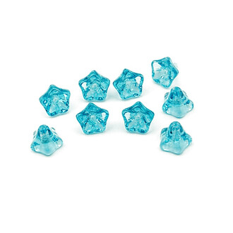 10 Glasblumen in hellblau 9 mm