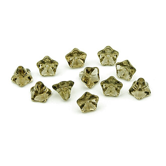 10 Glasblumen in taupe 9 mm