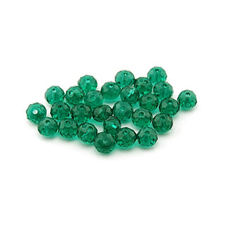 20 Glasschliffperlen 6 mm in emerald