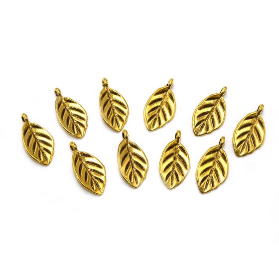 """20 Anhänger /""""Blatt/"""" in goldfarben"""
