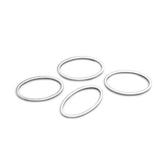 Edelstahl geschlossener Ring Schlüsselring Verbindungsring Schmuckzubehör 3-10mm
