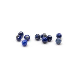 DIY Acrylperlen mit Blumenmuster in blau 10 mm 20 Stück von Vintageparts