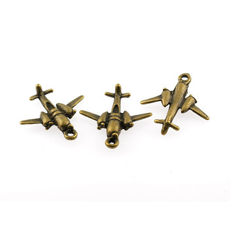 3 Propeller Flugzeuge 3D in antik Bronze