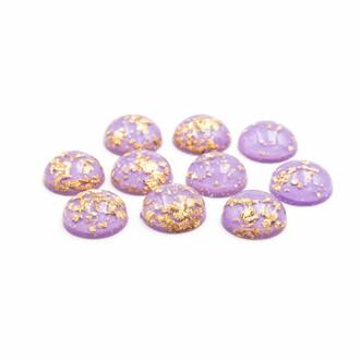 blumenförmig in flieder 8 Cabochons