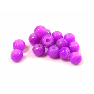 40 Glasperlen Jadeimitation 6 mm violett