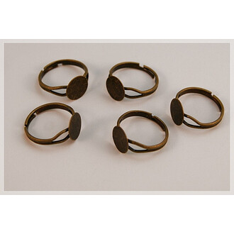 6 Ring Rohlinge in antik bronze