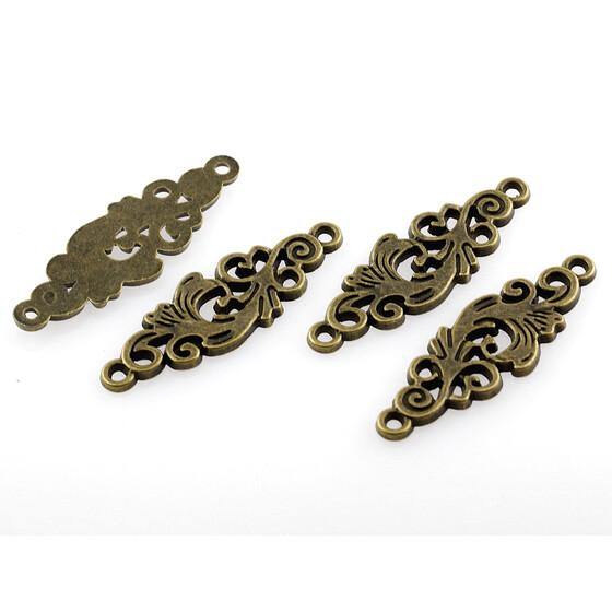 biegsame Verbinder in antik Bronze 8 orientalisch verzierte