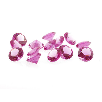 20 Cabochon als Diamant in pink, 10 mm