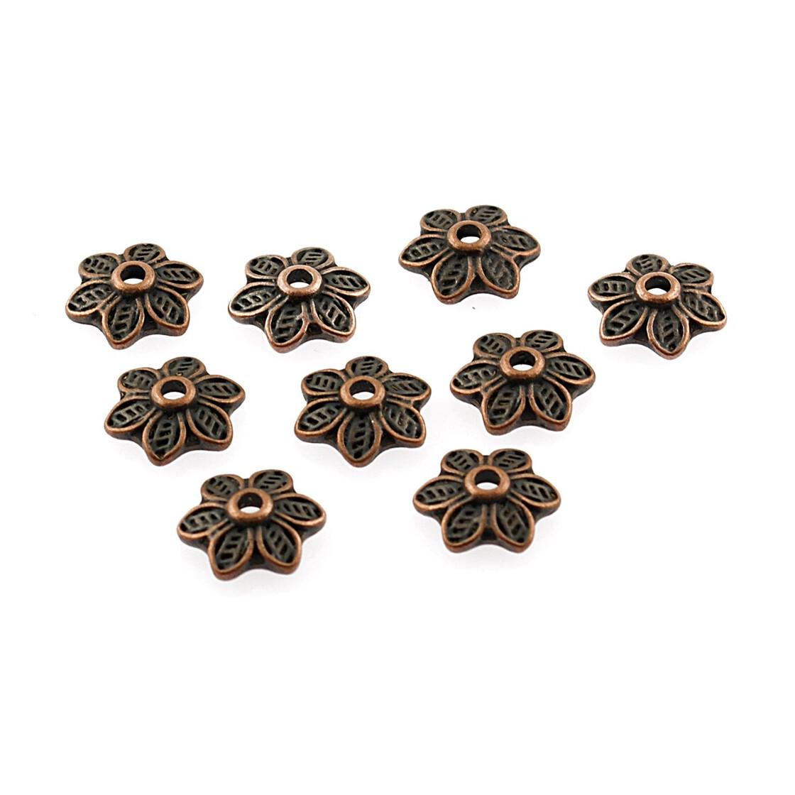 10 aquamarinfarbene Rosen als Cabochon 10 mm