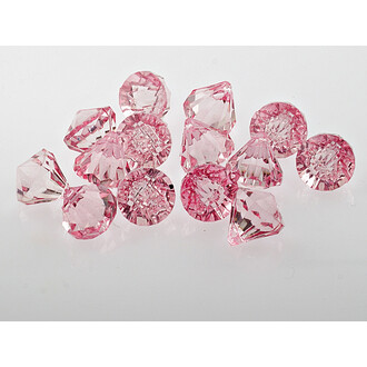 20 Diamanten aus acryl in rosa, 16 mm