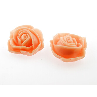 2 große Cabochon als Rose in apricot