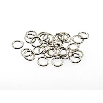 50 Binderinge in silber platiniert, 7 mm