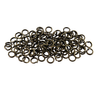 100 Biegeringe antik bronze 4 mm stabil