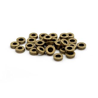 6 mm 30 schlichte Zwischenperlen in antik Bronze