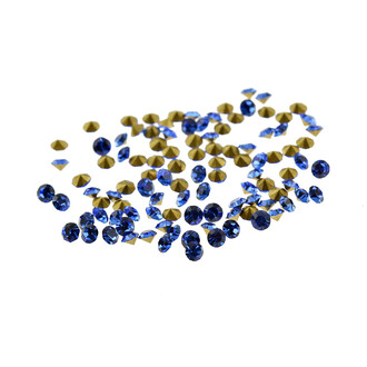 100 Strasssteine in royalblau, 2 mm