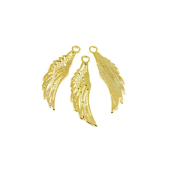 6 Ornamentanhänger in goldfarben