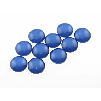 10 Resincabochons im Cateye-Design in marineblau, 10 mm
