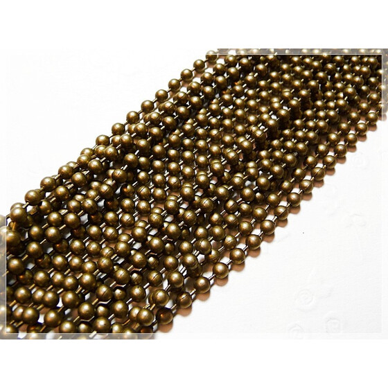1 m Kugelkette antik bronze 3 mm