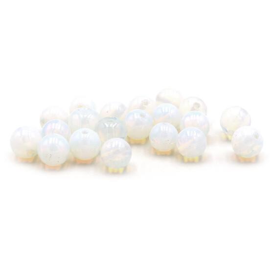 4 mm 80 Halbedelstein Glasperlen aus weißem Opal