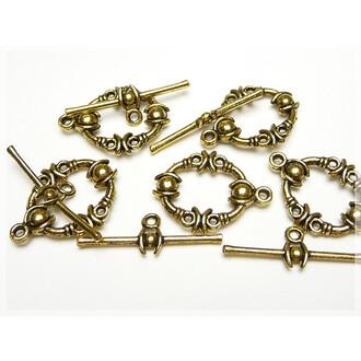 Ringe in D-Form aus 304 Edelstahl 10er Set von Vintageparts DIY Schmuck