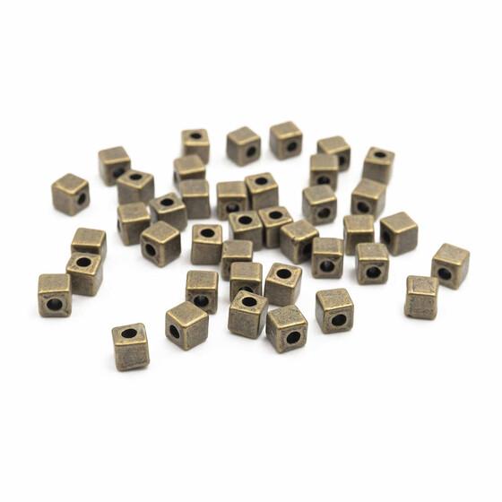 20 scheibenförmige gebogene Zwischenperlen in vintage Bronze
