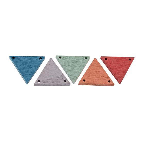 5 bunte verbinder dreieck aus lackiertem holz. Black Bedroom Furniture Sets. Home Design Ideas