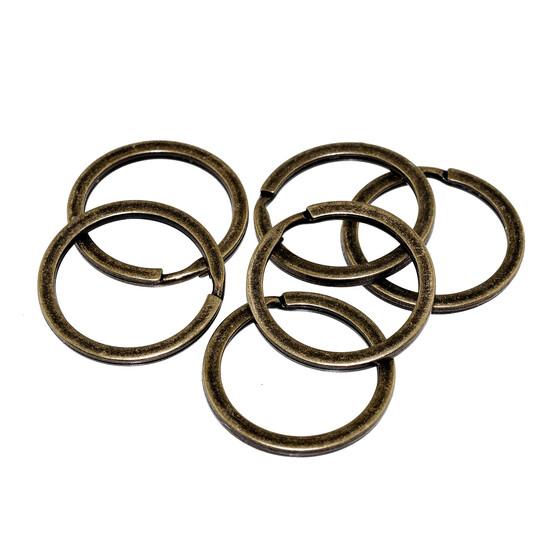10 kleine Schlüsselringe in antik bronzefarben