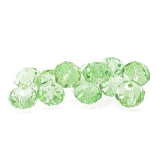 12 mm 10 Glasschliffperlen in hellgrün