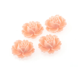 4 Cabochons Seerose in lachs 16 x 18 mm