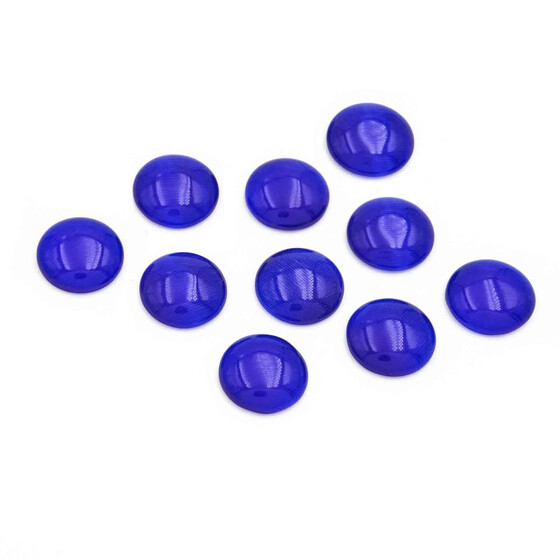 10 Cabochons Cateye Glas in nachtblau, 10 mm