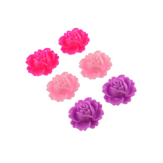 Farbmix 30 Röschen in Rosatönen als Cabochon 7 mm