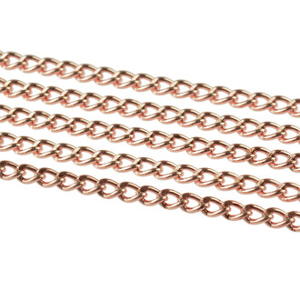 5 m Gliederkette in rosègoldfarben, 4 x 2,8 mm