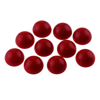 10 Cabochons aus Acryl in rot, 12mm