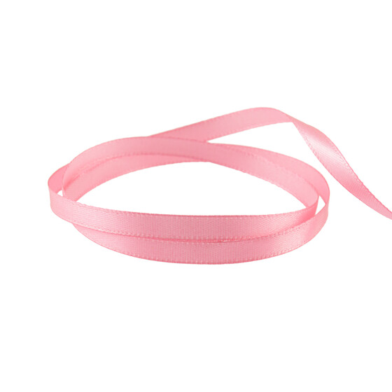 Satinband in rosa 6 mm 20 m