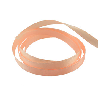 Satinband in lachs 6 mm 20 m